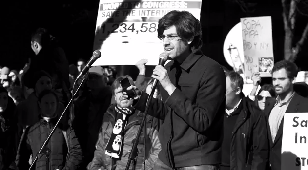A screenshot of activist Aaron Swartz from the new documentary about his life and death