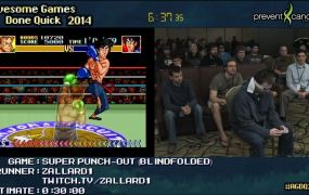 A speedrunner beats Super Punch-Out!! while wearing a blindfold.