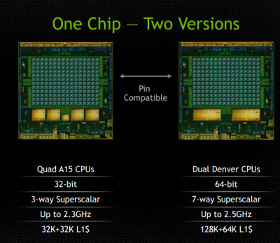 Tegra K1 has a 32-bit and 64-bit version.