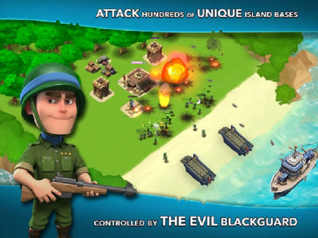 Boom Beach invasion