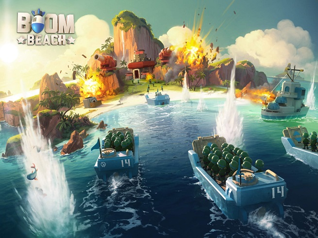 Artwork from Boom Beach.