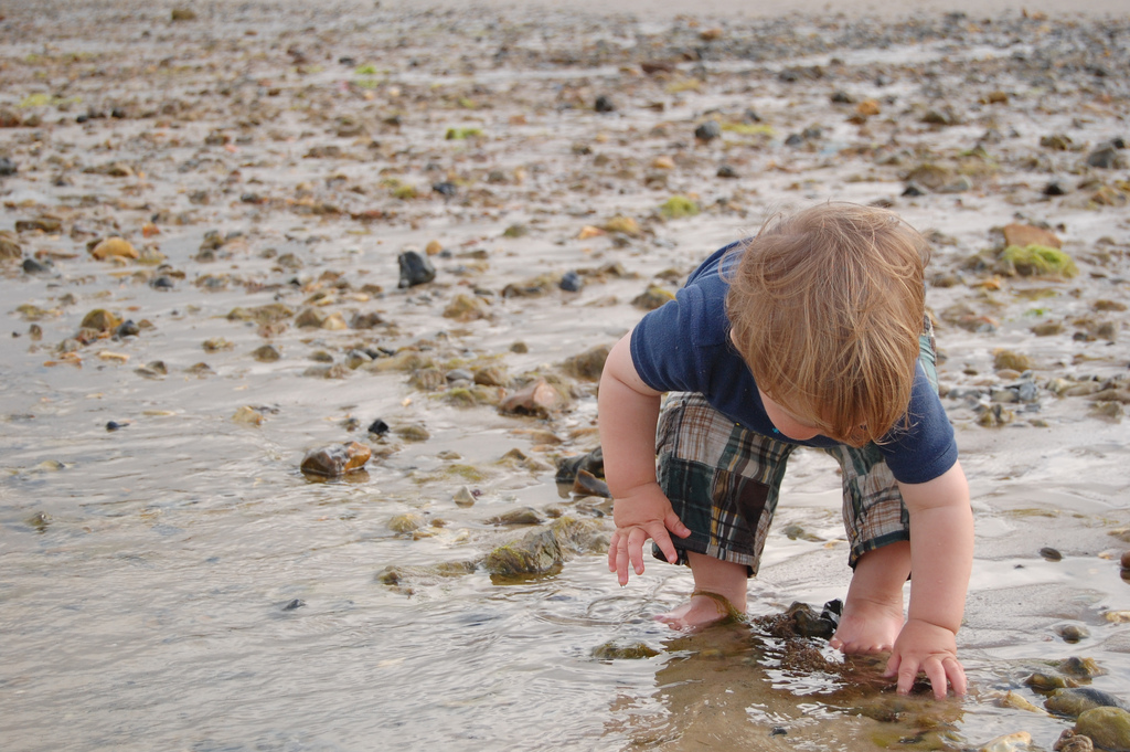 boy rock beach Rob flickr
