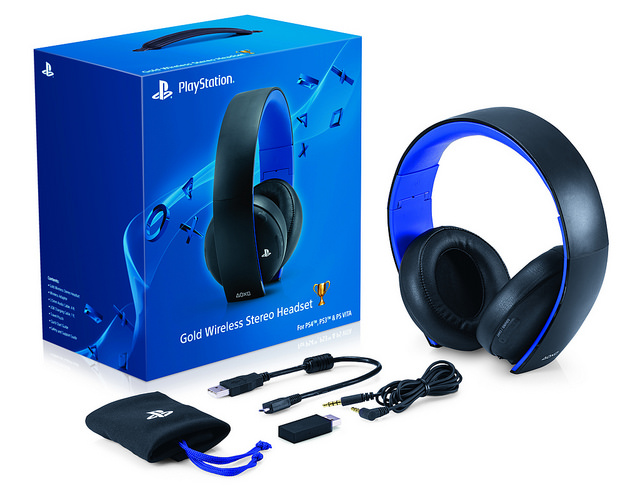 PlayStaiton 4 Gold Wireless Stereo Headset.