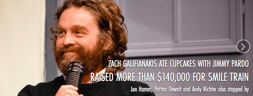 Zach Galifianakis helped raise $140K.