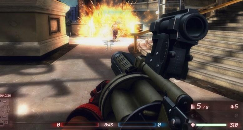 Ballistic grenade launcher