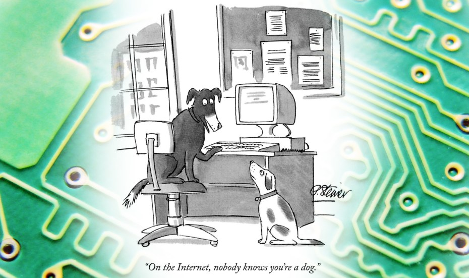 Dog cartoon silicon chip