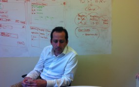 Fred Laluyaux, chief executive of Anaplan, and his iPad.