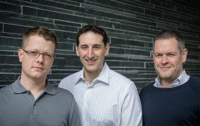 Wikispaces founders James Byers, Dominick Bellizzi, Adam Frey (L-R)