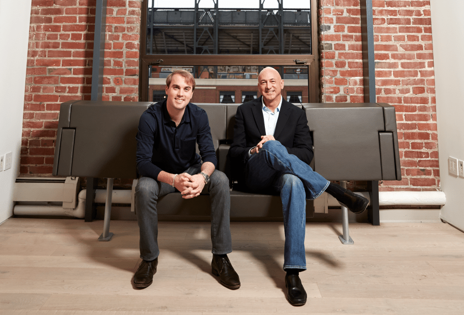 Lookout Mobile co-founder John Hering, left, and incoming chief executive Jim Dolce.