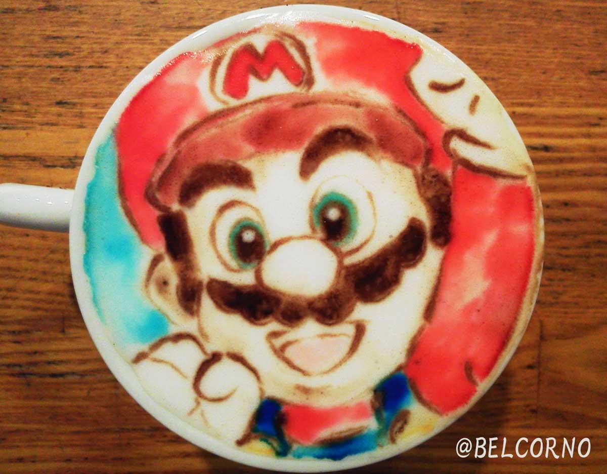Late art featuring Super Mario.