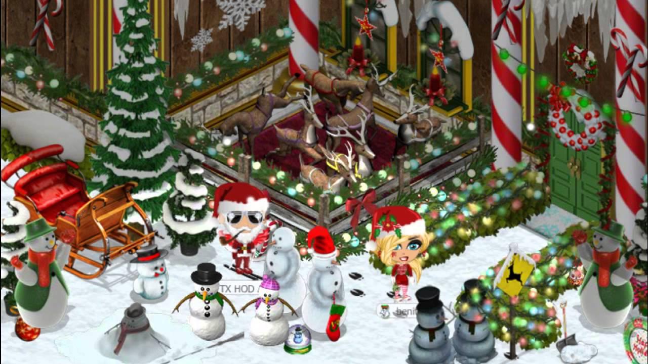 Zynga's YoVille during Christmastime.