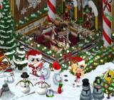 Zynga's YoVille during Christmastime.