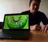 Razer CEO Min-Liang Tan with the new Razer Blade laptop.
