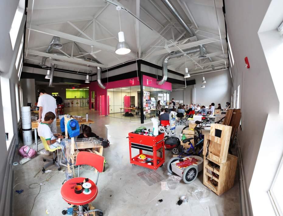 Teens working at NuVu