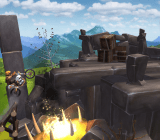 The motorcycle-platforming action of Trials Frontier for iOS.