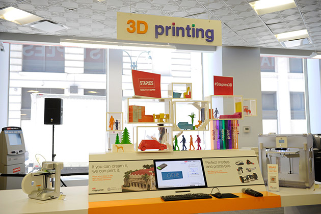 Staples' in-store 3D printing promotion