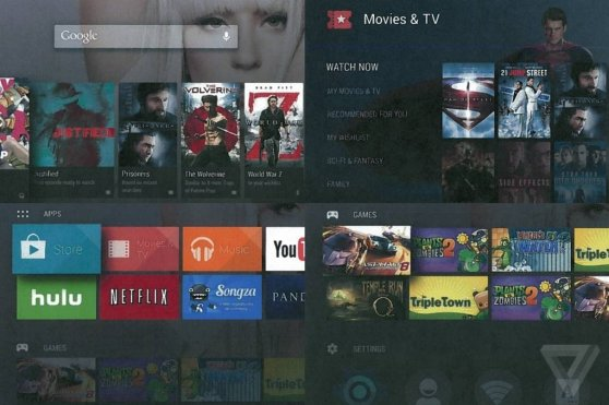 Screenshots of what could be unreleased Google project Android TV.