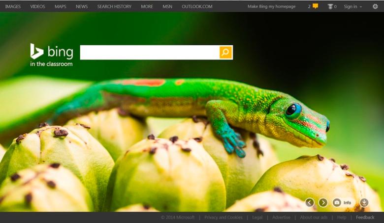 Bing in the classroom -