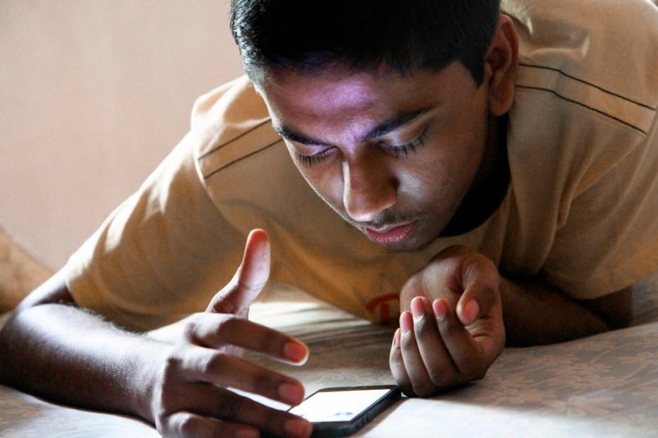 Boy smartphone Pabak Sarkar Flickr