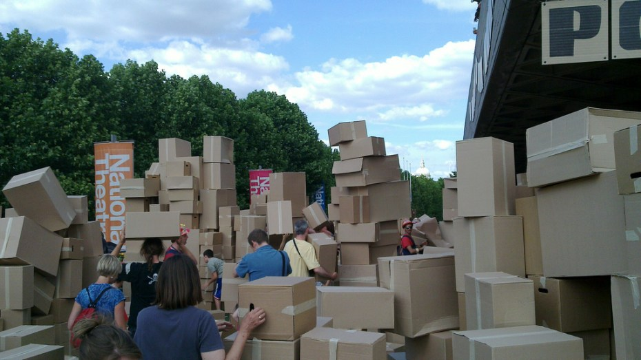 cardboard boxes James Nash Flickr