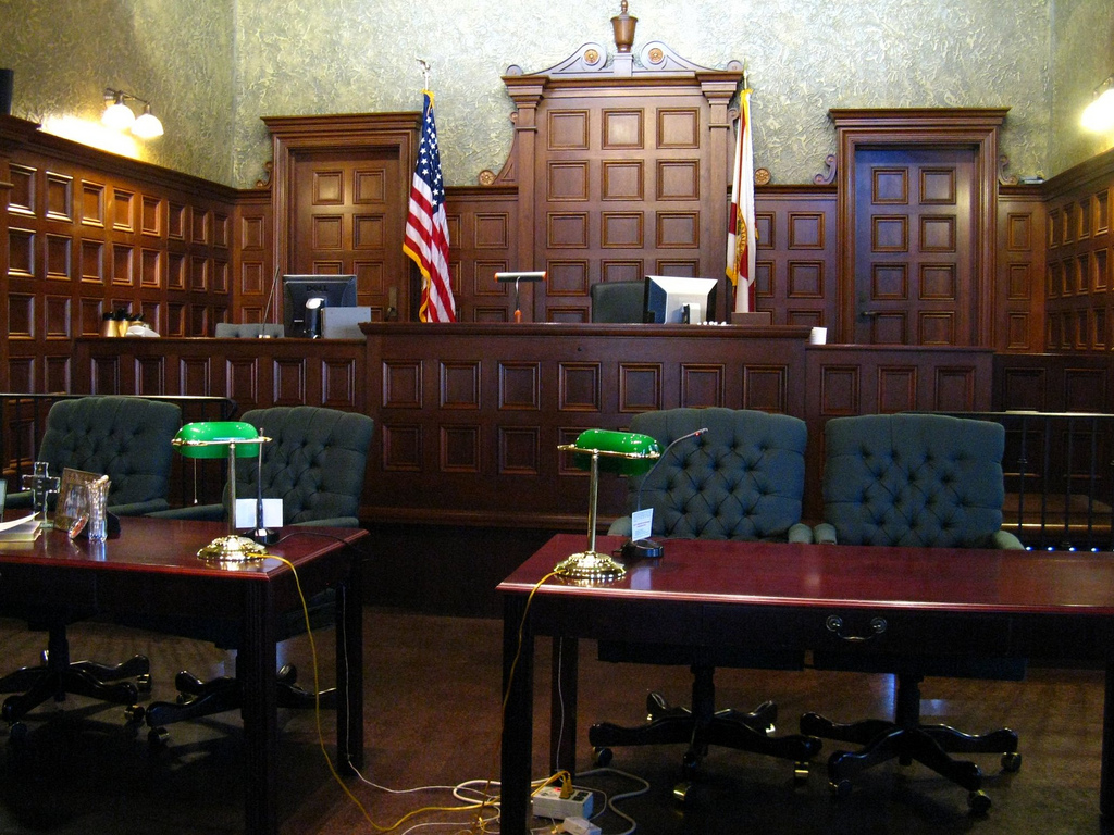 Courtroom Clyde Robinson Flickr