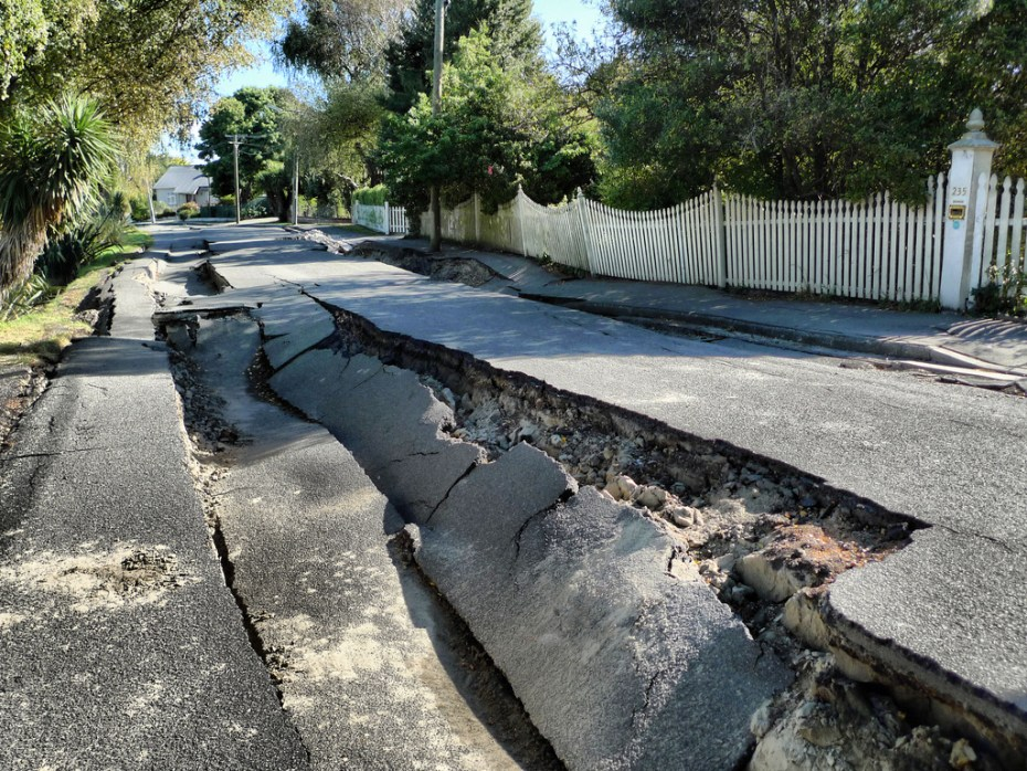 Earthquake road Martin Luff Flickr