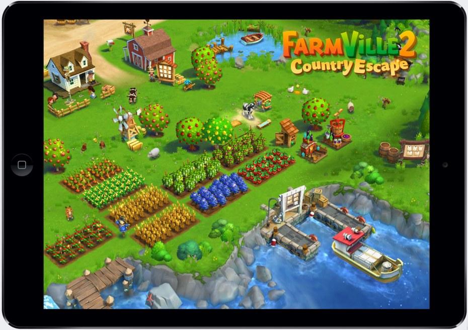 Farmville 2 on an iPad.
