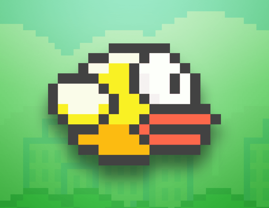 The titular fowl from Flappy Bird.