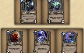 New cards that Hearthstone players can get from the adventure mode.