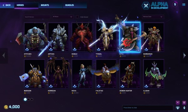 A picture of  a character select screen with ten iconic Blizzard characters as the choices.