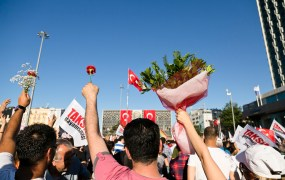 A protest in Istanbul in June, 2013.