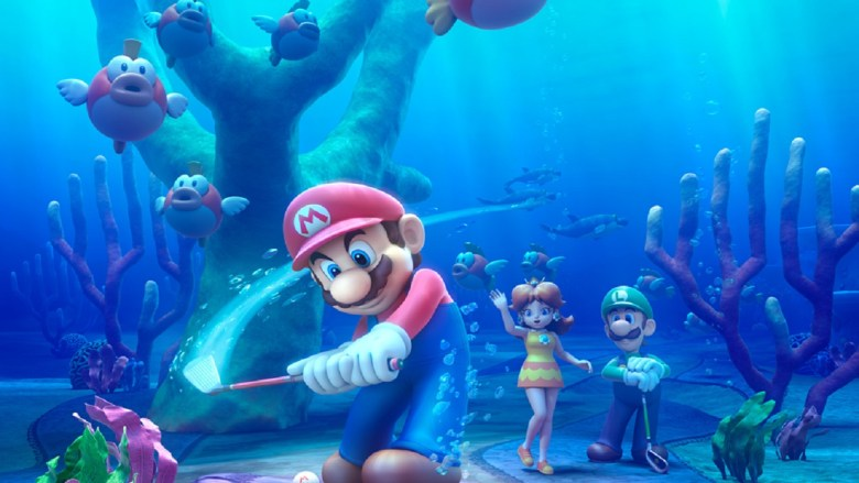 Yes, Mario Golf: World Tour has an underwater stage.