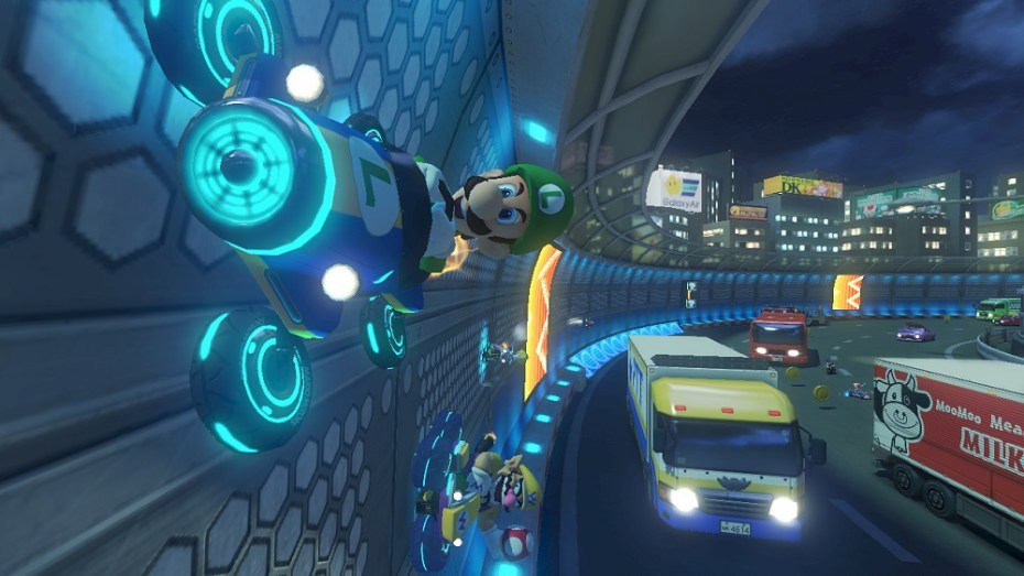 Luigi isn't driving off the road  by accident -- anti-grav karts open up new course design and racing strategies.