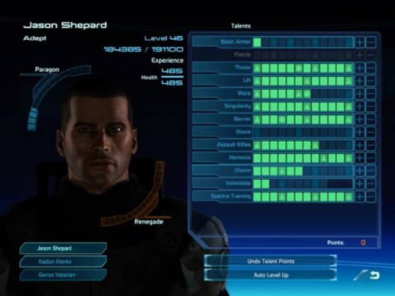 Mass Effect skill tree