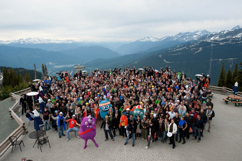 Mozilla team members at the Mozilla Summit 2010 in Whistler, Canada.