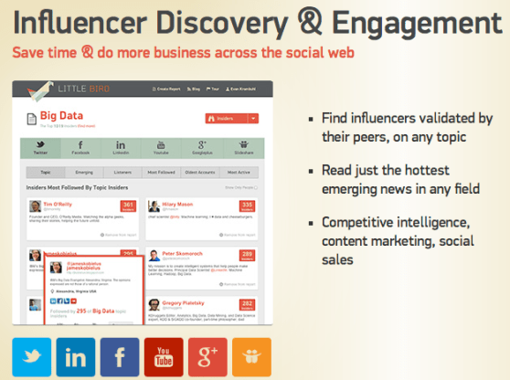 Little Bird helps you find influencers across the social web