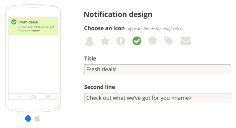 Creating mobile notifications