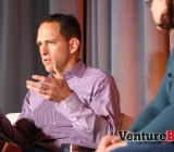 Sean Bartlett, left, director of digital experience for product and omni-channel integration at Lowe's, speaks at VentureBeat's Mobile Summit in Sausalito, Calif., on April 15.