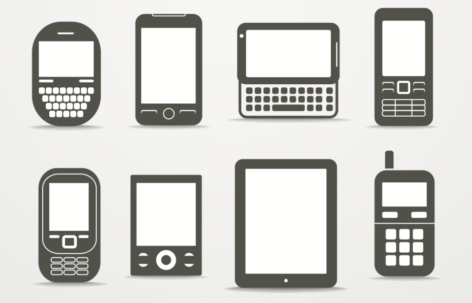 smartphones and tablets - png