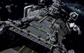 A space carrier in Star Citizen.