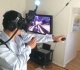 GamesBeat lead reporter Dean Takahashi demos Survios's virtual-reality tech.