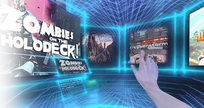 The Survios virtual reality interface.
