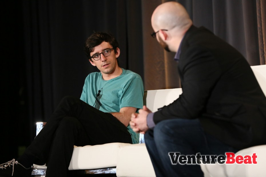 Andrew Sutherland, the founder of Quizlet, onstage at VentureBeat's DataBeat conference.