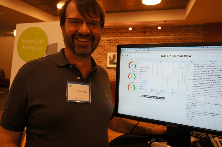 AT&T's Jim Rowland showing off his voice call analytics project