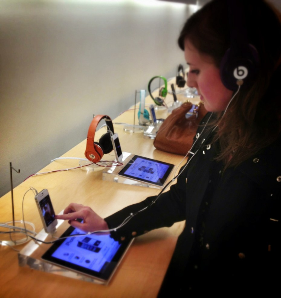 Beats at Apple Store