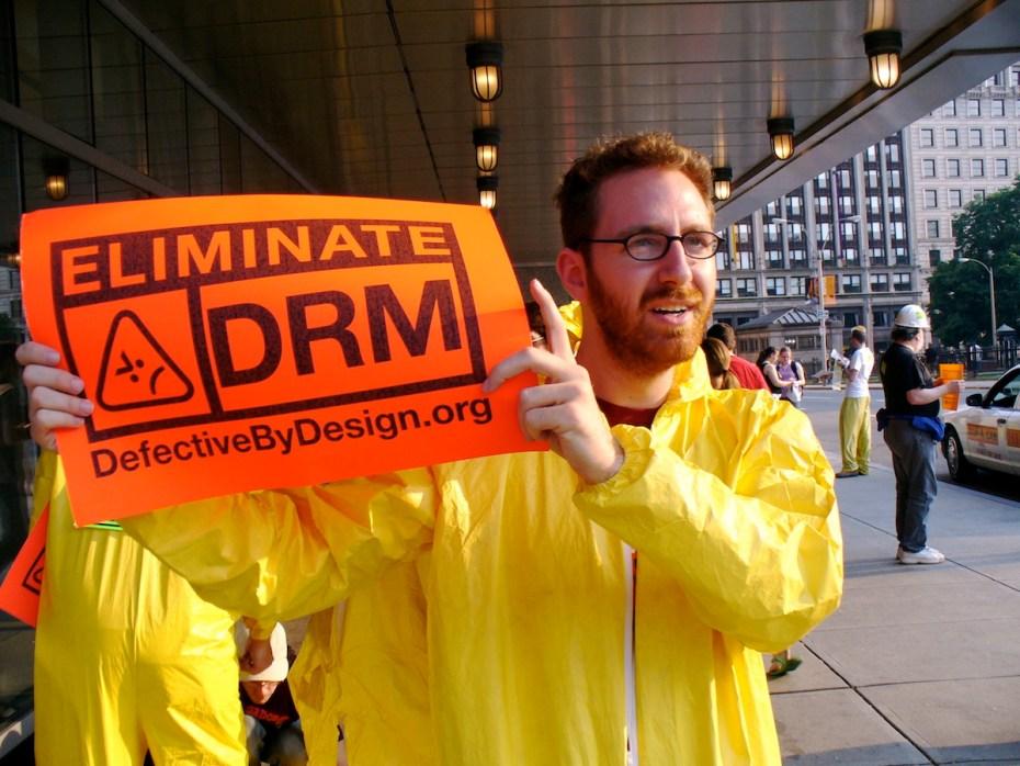 DRM protest in Boston