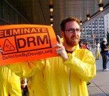 DRM protest in Boston