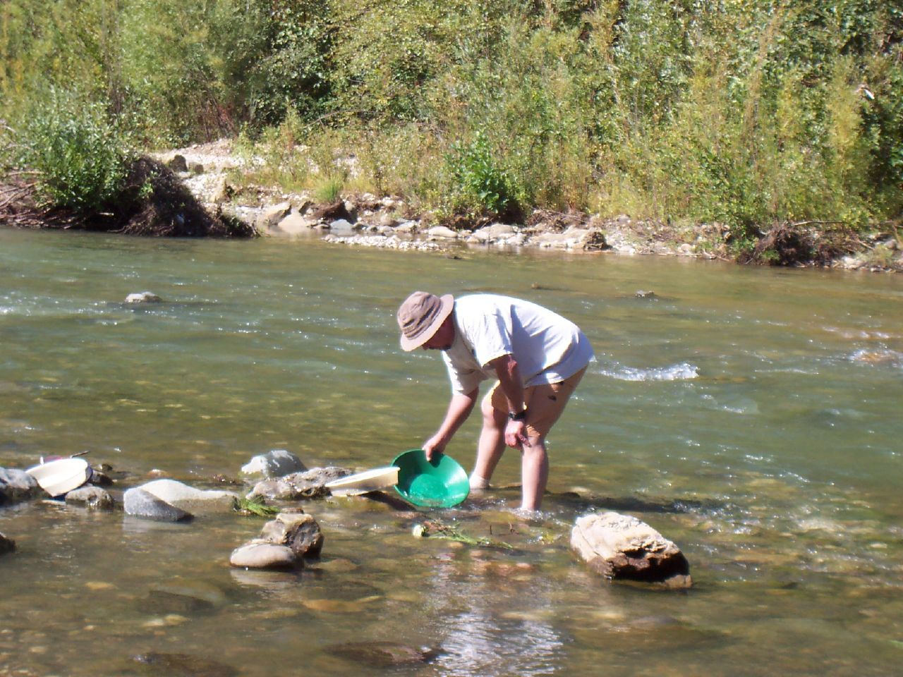 Gold panning Nick Ares Flickr