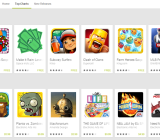 The top free apps on Google Play. Many feature in-app purchases.