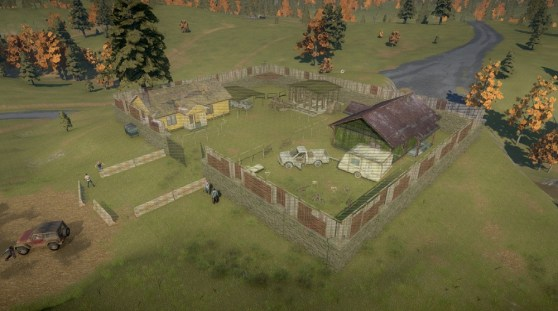 Fending off the undead in a fort in H1Z1